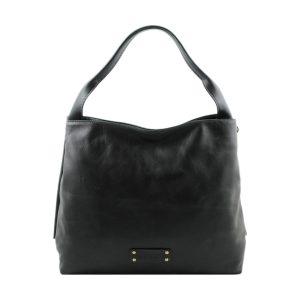 bolso mujer piel genuina negro