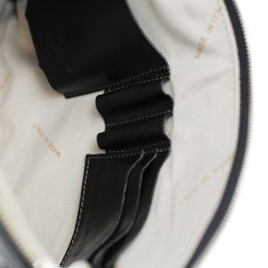 portafolio grande de cuero con cierre negro made in italy