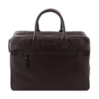 bolso de cuero multifuncional marrón