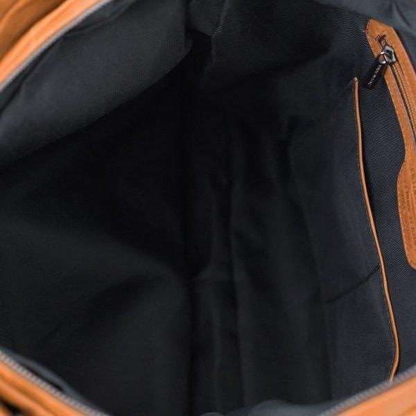 bolso de cuero multifuncional natural interior