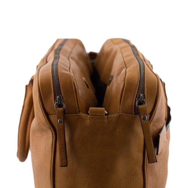 bolso de cuero multifuncional natural maletin piel