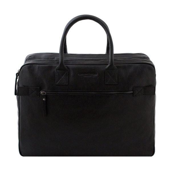 bolso de cuero multifuncional negro
