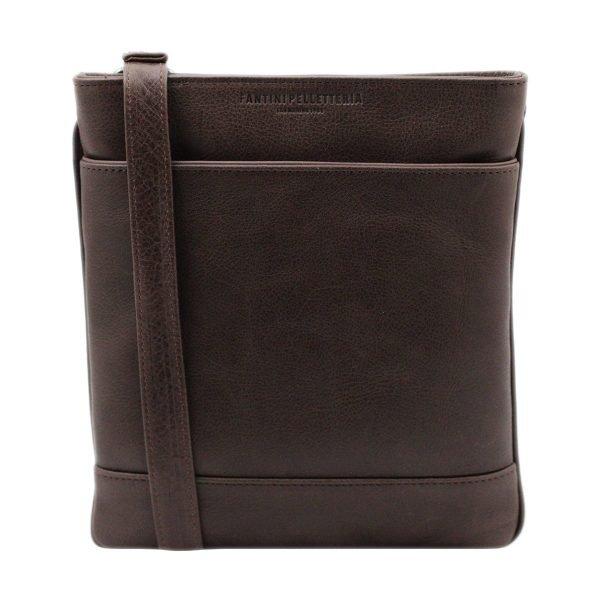 bolso hombre bandolera piel marrón