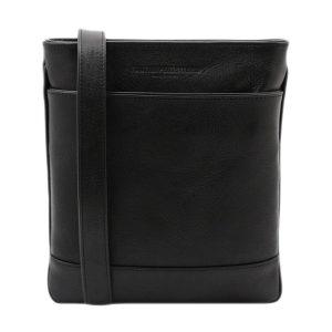 bolso hombre bandolera piel negro