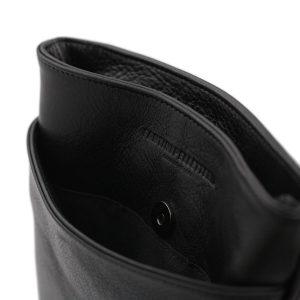 bolso hombre bandolera piel negro cierre bandolera