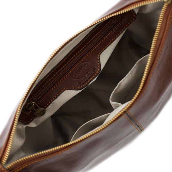 bolso piel mujer marrón cuero italiano