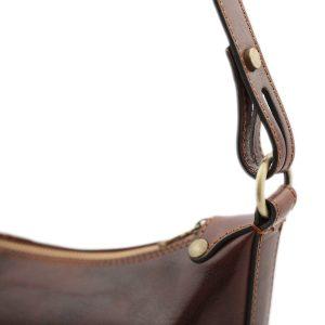 bolso piel mujer marrón made in italy