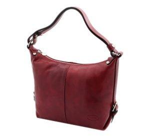 bolso piel mujer rojo