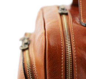 mochila de cuero miel macuto en cuero