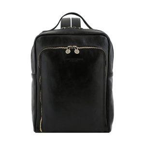 mochila de cuero negro