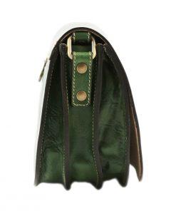 bolso cuero mujer verde tolfa